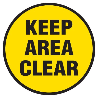 Anti-Slip Floor Markers - Keep Area Clear
