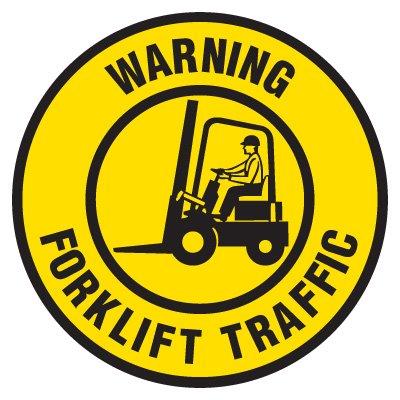 Anti-Slip Floor Markers - Warning Forklift Traffic