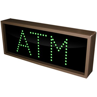Atm Green Direct View Sign
