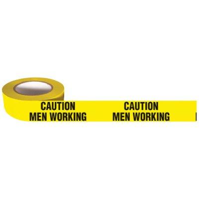 Barricade Tape Mini Rolls - Caution Men Working