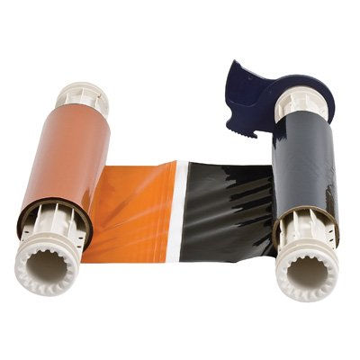 BBP®85 Series Printer Ribbon: R10000, Black/Orange, 6.25 in W x 200 ft L, 8 in Panels