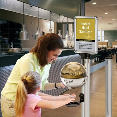 Beltrac® Instant Hand Sanitizing Station
