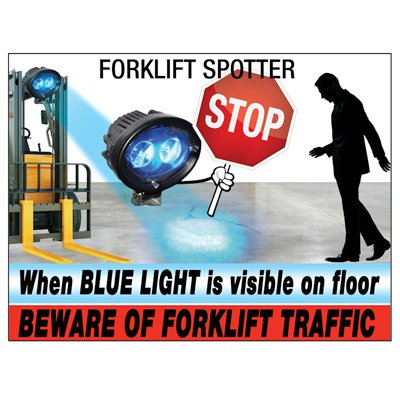 Beware of Forklift Traffic - IRONguard Forklift Spotter Warning Sign