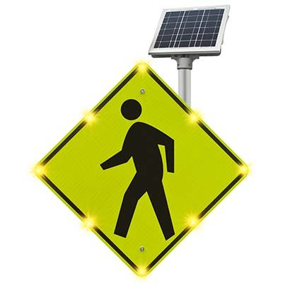 Blinker Sign® Flashing LED Pedestrian Crossing Sign