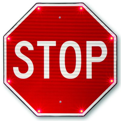 Indoor TAPCO BlinkerSign® Flashing LED STOP Sign