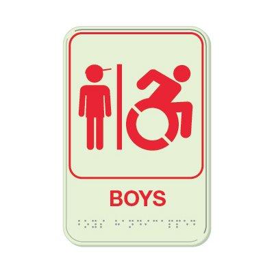 Boys (Dynamic Accessibility) - Glo Brite Braille Signs