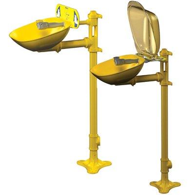 Bradley Halo® Pedestal-Mount Eyewash