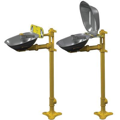 Bradley Halo® Pedestal-Mount Stainless Steel Eyewash