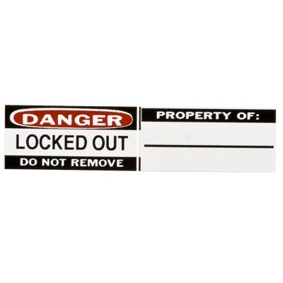 Brady Durable Vinyl Lockout Labels for Aluminum Safety Padlocks - Write-on Surface (50289) - 6PK