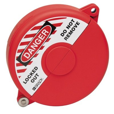 Brady XL Extremely Rugged Polypropylene Red Gate Valve Lockout