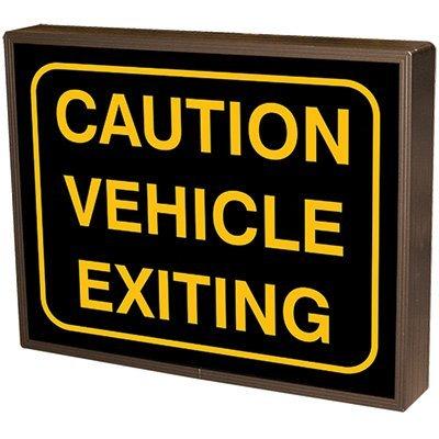 Caution Vehicle Exiting Backlit LED Sign