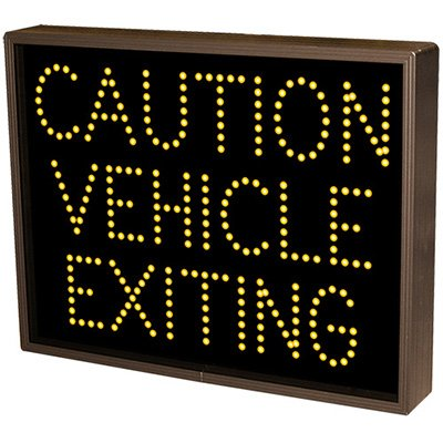 Caution Vehicle Exiting Direct View Sign