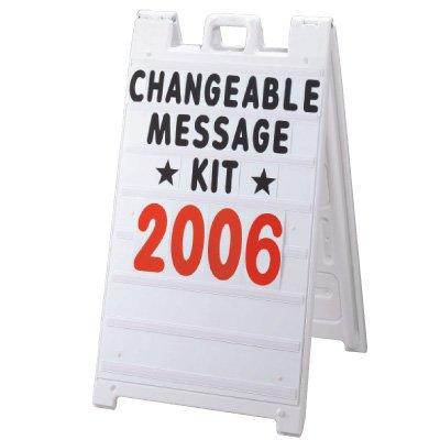 Plasticade® Changeable Message Kit 8410