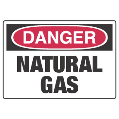 Chemical Hazard Danger Sign - Natural Gas