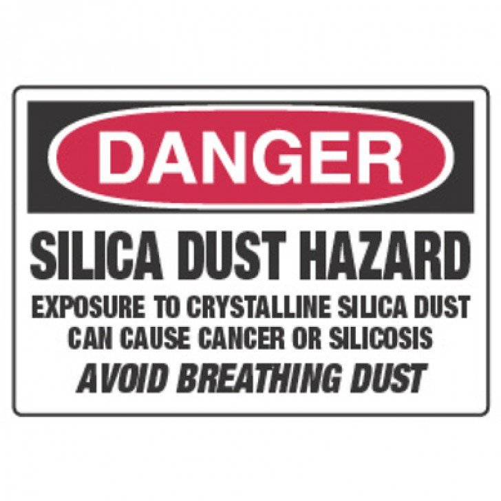 Chemical Hazard Danger Sign - Silica Dust Hazard Can Cause Cancer