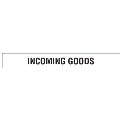 Clear Floor Tape Labels - Incoming Goods