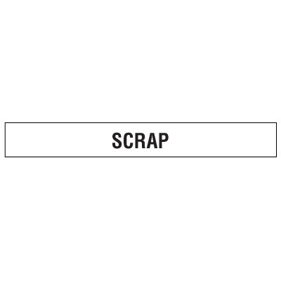 Clear Floor Tape Labels - Scrap