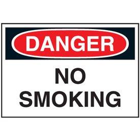 Cold Adhesion Safety Labels - Danger No Smoking