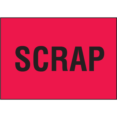 Scrap Color Coded QC Labels