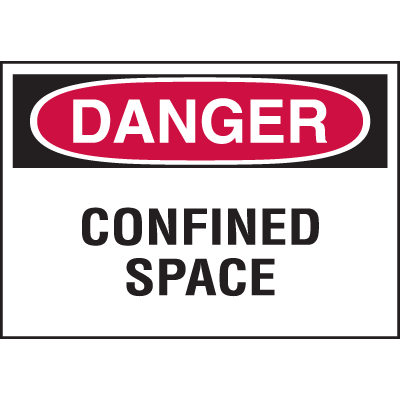 Confined Space Labels - Danger Confined Space