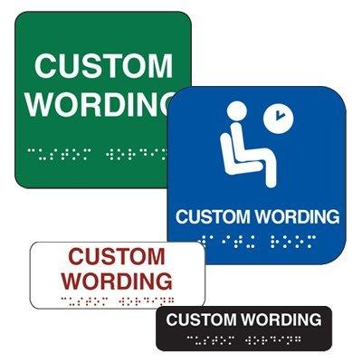 Custom Braille Signs