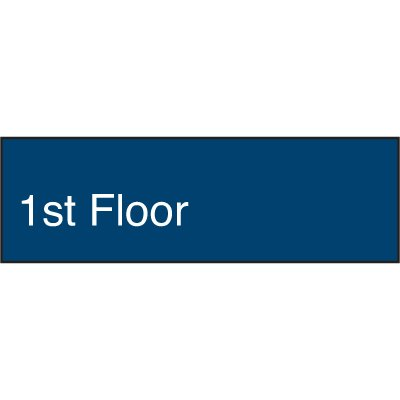 Custom Engraved Floor Number Signs