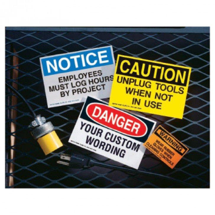 Custom Hazard Warning Labels