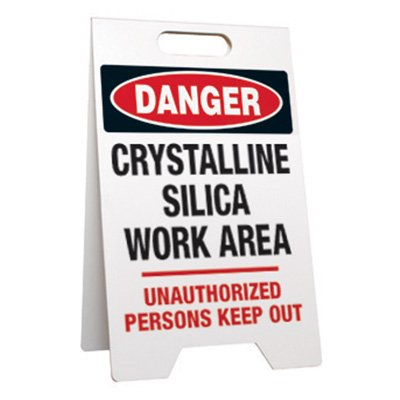 Danger Crystalline Silica - Portable Floor Stands