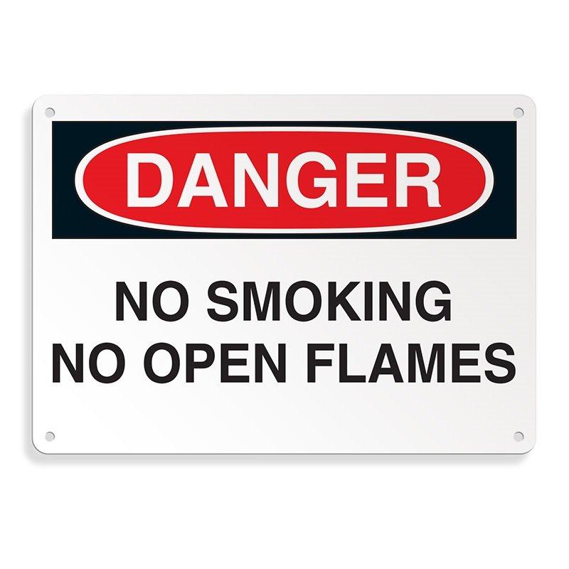 Danger Signs - No Smoking No Open Flames