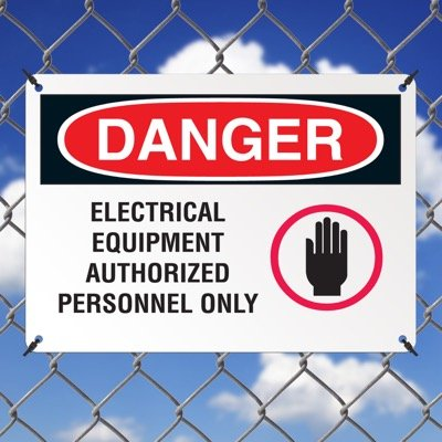 Electrical Equipment Authorized Personnel Only Danger Sign