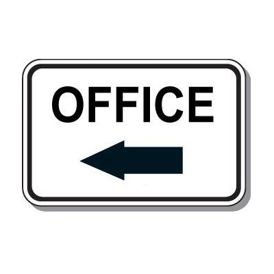 Directional Parking Signs - Office (Left Arrow)