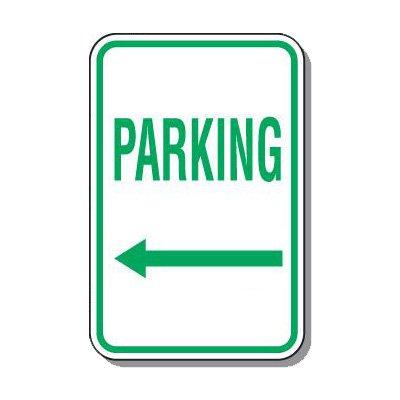 Directional Parking Signs - Parking (Arrow Left)