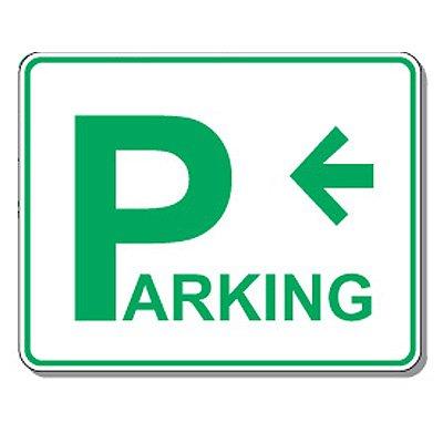 Directional Parking Signs - Parking (Left Arrow)