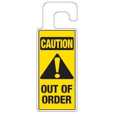Door Knob Hangers - Caution Out Of Order