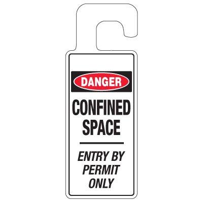 Door Knob Hangers - Danger Confined Space