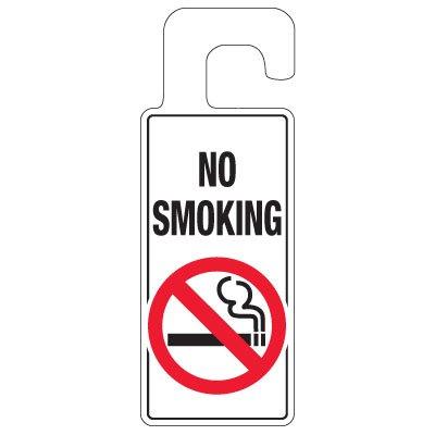 Door Knob Hangers - No Smoking