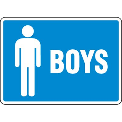 Eco-Friendly Signs - Boys
