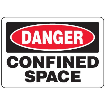 Eco-Friendly Signs - Danger Confined Space