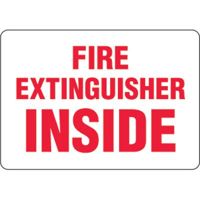 Eco-Friendly Signs - Fire Extinguisher Inside