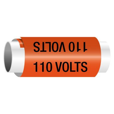 110 Volts - Snap-Around Electrical Markers