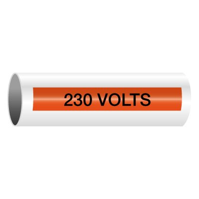 230 Volts - Self-Adhesive Electrical Markers