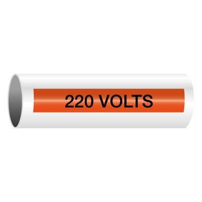 220 Volts - Self-Adhesive Electrical Markers