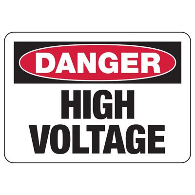 Danger High Voltage Signs & Labels