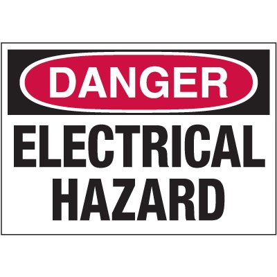 Electrical Warning Labels - Danger Electrical Hazard