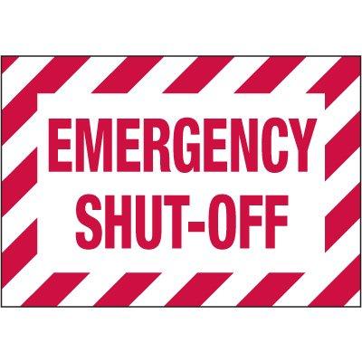 Electrical Warning Labels - Emergency Shut-Off
