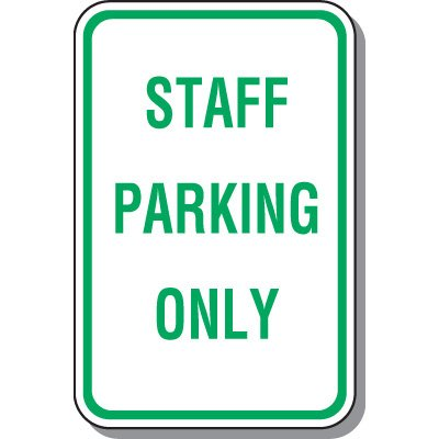 Employee Parking Signs - Staff Parking Only