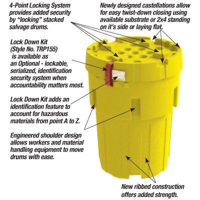 Envirosalv® Poly Salvage Drum Plus and Lock Down Security Kit