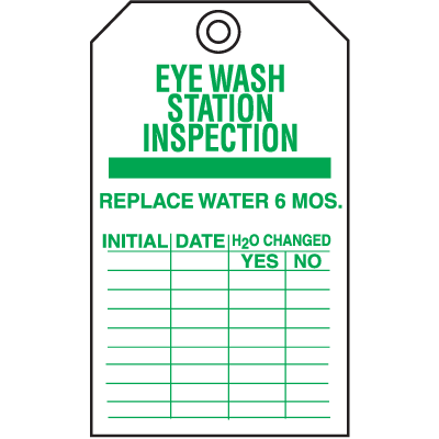 Safety Inspection Tags - Eye Wash Station