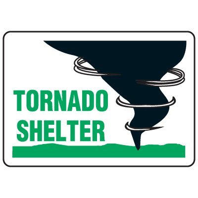 Evacuation & Shelter Signs - Tornado Shelter