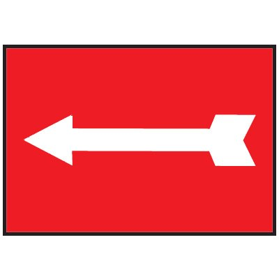 Exit/Directional Signs with arrow graphic